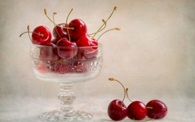 Картинка фрукты, вишни, cup, fruit, cherries, чашкa