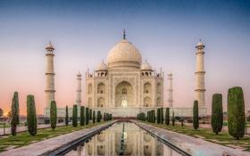 Обои замок, Индия, храм, Taj Mahal, Тадж Махал, India