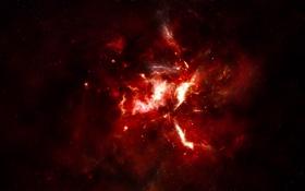 Обои звезды, свет, туманность, созвездие, nebula, born of a star
