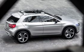 Обои silver, wallpaper, GLA, car, Concept, Mercedes-Benz