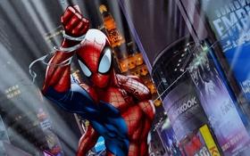 Обои костюм, супергерой, art, marvel comics, Peter Parker, Ultimate Spider-Man