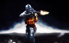 Картинка солдат, автомат, soldier, battlefield 3
