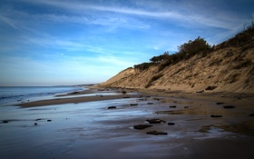 Картинка природа, склон, берег, фото, море