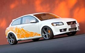 Картинка оранжевый, Volvo, Heico