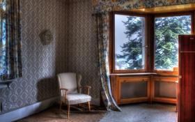 Картинка комната, кресло, окно