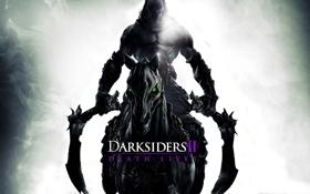 Обои Всадник, косы, конь, Darksiders 2