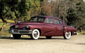 Обои фон, классика, передок, 1948, Sedan, Tucker