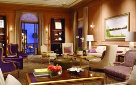 Обои дизайн, дом, гостиная, интерьер, комната, стиль