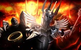 Картинка кольцо, зло, Властелин Колец, доспех, Lord of the Rings, Sauron