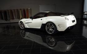 Картинка белая, Ferrari, 599 GTB