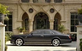 Обои здание, машины, Brooklands, Bentley