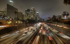 Обои пейзаж, город, трасса, Лос-Анджелес, калифорния, Los Angeles, L.A.