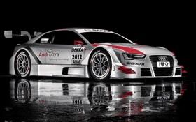 Обои отражение, Audi, ауди, спорт, болид, sportcar, DTM