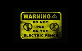 Обои щит, high voltage, electric, do not pee, Warning, опасно, fence