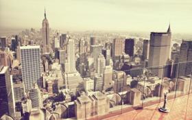 Обои metropolis, town, New York