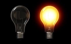 Обои свет, лампы, тьма, обои