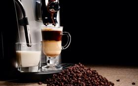 Картинка кофе, напиток, зёрна