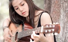 Картинка музыка, девушка, гитара