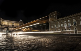 Картинка ночь, город, Италия, Roma