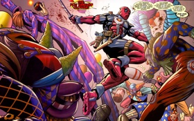 Обои оружие, кровь, бой, gun, выстрелы, marvel, комикс