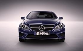 Картинка Авто, Синий, Машина, Лого, Решетка, Капот, Mercedes