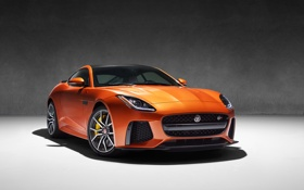 Картинка фон, купе, Jaguar, ягуар, Coupe, F-Type