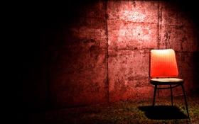 Обои стул, фото, цвета, обои, стена, обработка, картинка