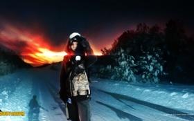 Картинка зима, снег, тень, мальчик, ребёнок, Survarium, Vostok Games