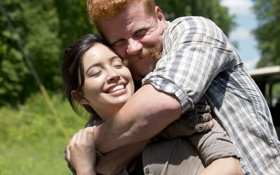 Картинка The Walking Dead, Ходячие мертвецы, Michael Cudlitz, Christian Serratos, Росита, Abraham