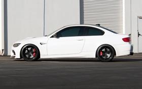 Картинка белый, чёрные, bmw, бмв, профиль, wheels, диски
