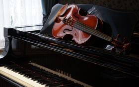 Картинка музыка, скрипка, пианино