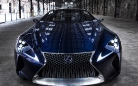 Обои авто, Concept, фары, Lexus, Blue, передок, LF-LC