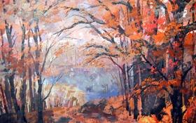Обои пейзаж, картина, живопись