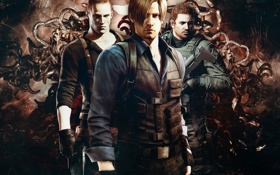 Картинка Resident Evil, Resident Evil 6, Leon Scott Kennedy, Chris Redfield, Jake Muller, Biohazard 6