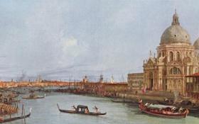 Обои картина, венеция, италия, italy, venice, антонио каналетто, 18 век