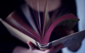 Картинка девушка, фон, движение, обои, настроения, книга, книжка