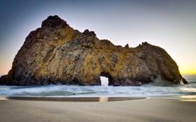 Картинка landscape, пейзаж, nature, небо, rock, waves, 2560x1600