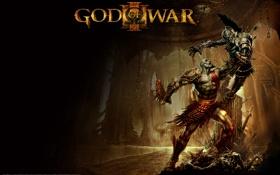 Картинка Игра, воин, арт, броня, битва, клинки, God of War