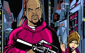 Обои рисунок, арт, Grand Theft Auto, гта, gta 3, liberty city, либерти сити