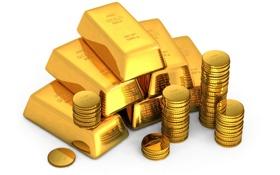 Картинка Монеты, Фон, Металл, Золото, Блеск, Слиток