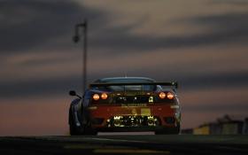 Картинка закат, красота, F430 GT, трек фары