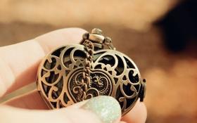 Обои сердце, кулон, украшение