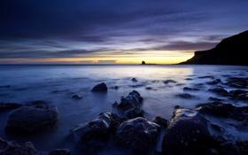 Картинка sea, sunrise, Sunrise, Saltwick Bay