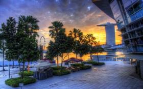 Обои восход, сингапур, sunrise, Singapore