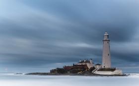 Обои Lighthouse, St Marys Island, Sea
