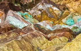Обои пейзаж, горы, краски, цвет, склон