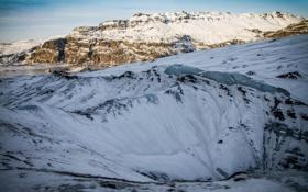 Обои холод, лед, зима, снег, пейзаж, горы, льдины