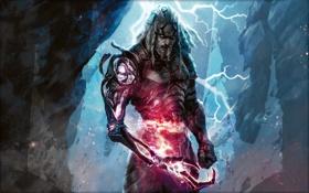 Обои мужчина, рука, воин, Magic the gathering, магия, mirodin, besieged