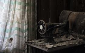 Обои фон, комната, швеиная машинка