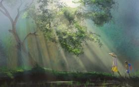 Картинка арт, лес, Thailand, Таиланд